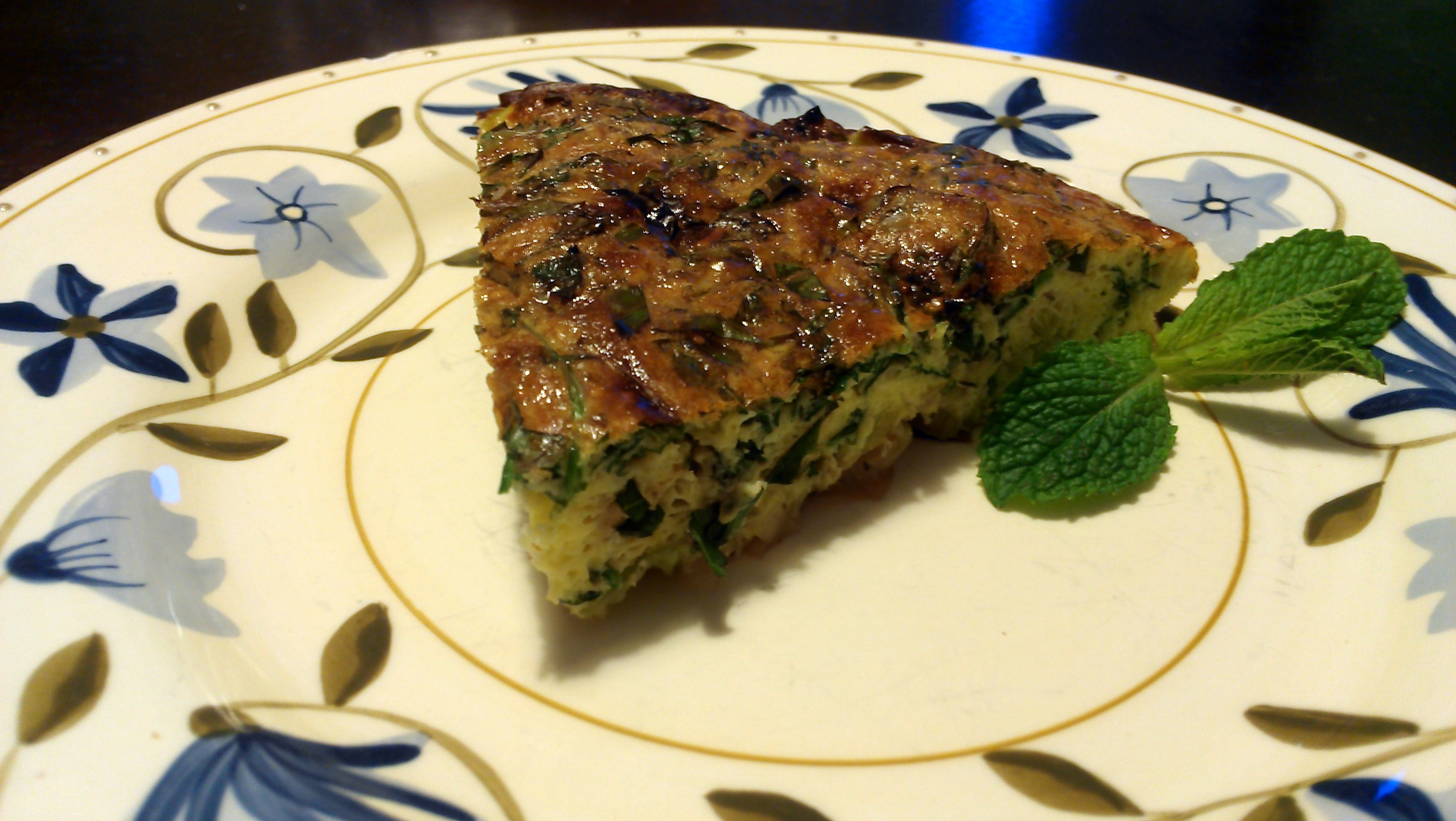 The Non-Omelet Omelet: Leek and Herb Frittata -