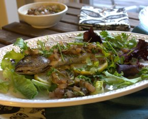 Go Fish!:  Pastrmka, or Macedonian Grilled Trout with Vinegar Sauce