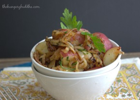 Spud Salad:  Caramelized Onion Parsley Potato Salad